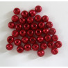 PL0651 - Red glass pearls 6mm. pack of approx. 38