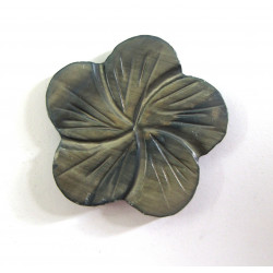Pretty carved shell flower bead