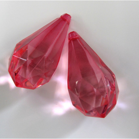 AC5033 - Jumbo teardrop, pink. Pack of 2