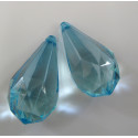 Jumbo tear-drop., light blue. Pack of 2.