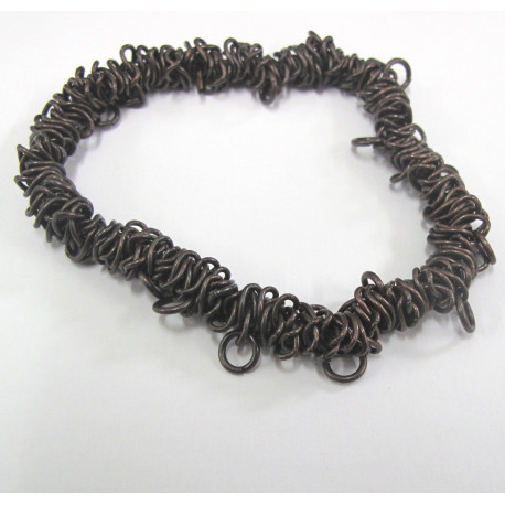 F4000c - Stretchy Antique Copper Coloured Bracelet.