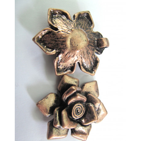 F5035 - Flower pendant, antique copper colour