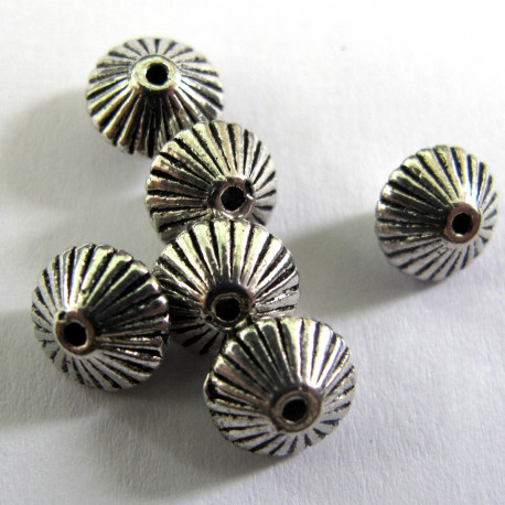 F4114 - Bi cone bead- metal. Pack of 10