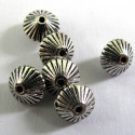 Bi cone bead- metal. Pack of 10