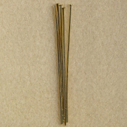 2 inch headpin, harder metal. Pack of 50 pieces.