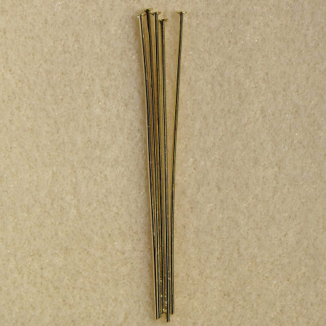 F4030G - 2 Inch headpin, Harder Metal, Pack of 50 Pieces.