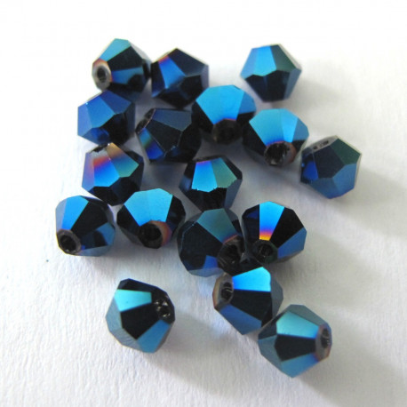 CR4447 - 4mm bicone, midnight blue.Pk of 50