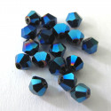 4mm bi-cone, midnight blue. Pk of 50