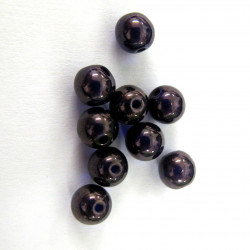 6mm blue/purple glass. Pack of 20