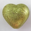 Large green heart bead