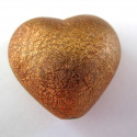 Large brown heart bead