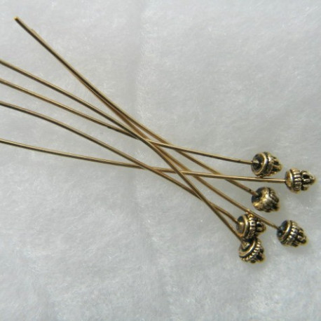 F4035G - Fancy headpins. Pack of 25 pieces.