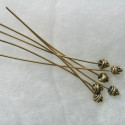 Fancy headpins. Pack of 25 pieces.