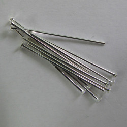 1 headpins, pack of 50 pieces.
