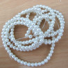 PL0401 - Long String of 4mm White Glass Pearls.