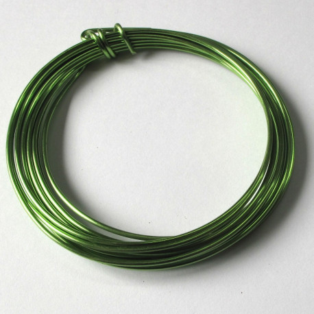 "TH1505 - 1.5mm aluminium wire ""Apple green"" 3m"