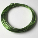 1.5mm aluminium wire apple green 3m
