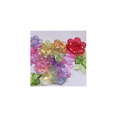 PB3115 - Mixed transparent flowers. Approx 10g