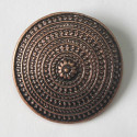 Antique copper colour disc pendant