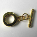 Chunky toggle. Gold colour.