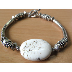 K117 - Bracelet bar kit with magnesite.