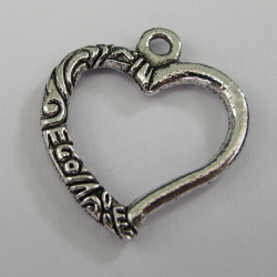 F8620 - Open heart charm. Great price!