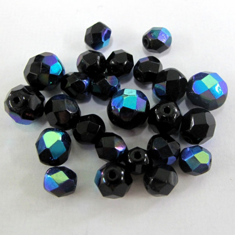 FPMX06 - Black with blue shine. Pack of 40g