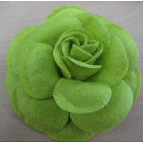 FF1212 - Green Felt Flower 55mm