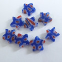 Millefiore star beads. Pack of 10