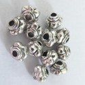 Small antique silver spacers. Pack of 50