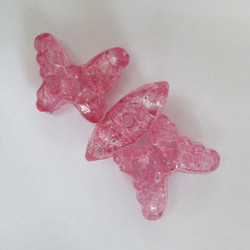 Large crackle acrylic butterflies. Pack of 4. Approx 30 x 25mm.