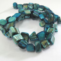 Turquoise blue shell strand.