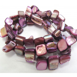 Strand of purple shell beads.