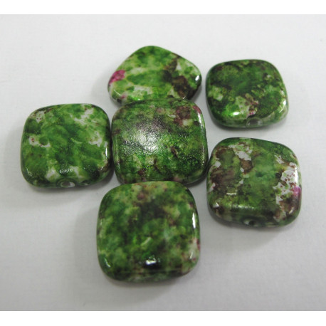 AC5170 - Flat square speckled bead. Pack of 10