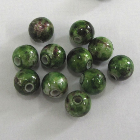 AC5130 - 6mm speckled green. Pack of 100