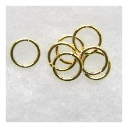 9mm jump rings, gold colour.