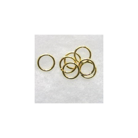 F4274G - 9mm Jump Rings, Gold colour.