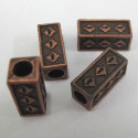 Rectangular bead with large hole. Pack of 10