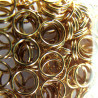 F4051g - 5 mm Split Ring, Gold Coloured.