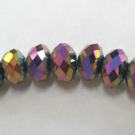 CR1833 - Gold rainbow rondelles. Strand of 18 beads.