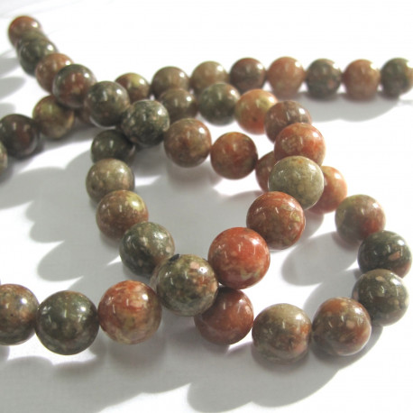 "S4212 - Autumn Jasper. 8mm beads, 16"" strand."