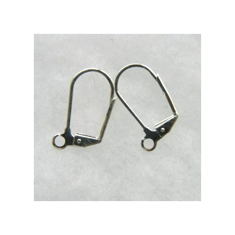 F4174S - Lever back earwire, silver colour, pair.