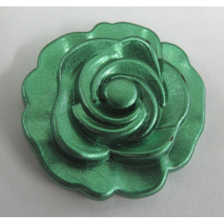PB3116 - Metallic green flower. Pack of 3