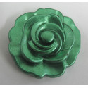 Metallic green flower. Pack of 3