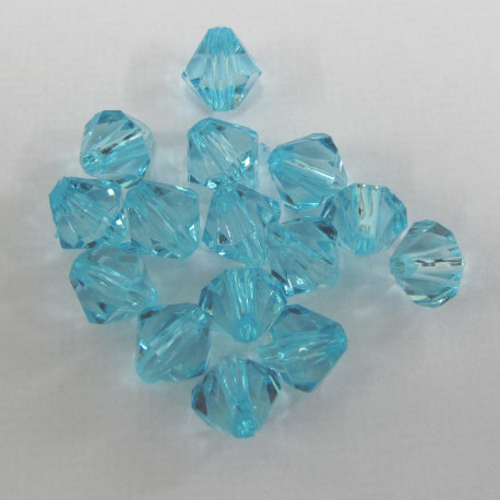 AC4711 - 8mm acrylic bicone,light blue. Pack of 100