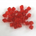 Red 6mm acrylic bi-cone. Pack of 100