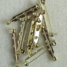 F4110G - Bar brooch back, approx. 30mm. Pack of 10
