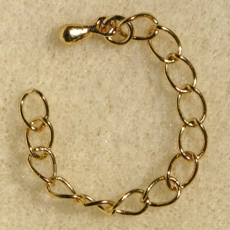 F4130G - Extension chains, gold colour. Pack of 10