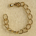 Extension chains, gold colour. Pack of 10