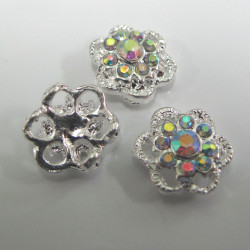 Diamonte style 2 hole spacer. Pack of 3.